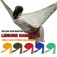 Load image into Gallery viewer, 1 Set Portable Hammock Mesh Net Rope Camping Garden Swing Hanging Bed