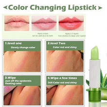 Load image into Gallery viewer, 3Pcs Aloe Vera Lipbalm Color Changing Long Lasting Highly Nourishing Moisturizing Lip Balm Makeup Lip Foundation Lip Care Lip Gloss Lip Cream