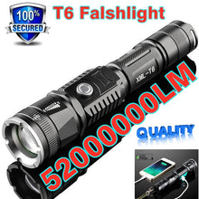 Load image into Gallery viewer, Super Bright CREE XM-L T6 LED Flashlight Waterproof  Long-range  Rechargeable LED Light Riding Hunting Torch Tactical Flashlight