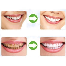 Load image into Gallery viewer, Hot 2Pcs/Set(Powder+Toothbrush) Yellow Teeth Nemesis Teeth Whitening Powder Natural Organic Activated Charcoal Bamboo Toothpaste With Toothbrush-Whitening toothpaste-Blanchissant la poudre dentaire-Dentifrice blanchissant