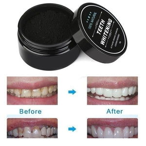 Hot 2Pcs/Set(Powder+Toothbrush) Yellow Teeth Nemesis Teeth Whitening Powder Natural Organic Activated Charcoal Bamboo Toothpaste With Toothbrush-Whitening toothpaste-Blanchissant la poudre dentaire-Dentifrice blanchissant