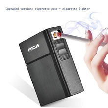 Load image into Gallery viewer, 2019 NEW Cigarette Case Box Lighter with Flameless Removable Electronic Lighter Windproof Torch Lighter(Standard and Upgrade)