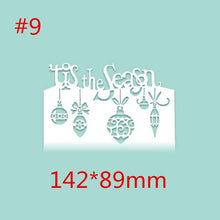 Load image into Gallery viewer, christmas Metal Cutting Dies Scrapbooking Craft Die cuts Card Paper art diy album Emboss Stencil