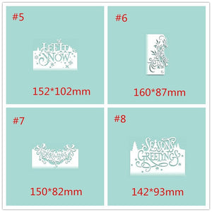 christmas Metal Cutting Dies Scrapbooking Craft Die cuts Card Paper art diy album Emboss Stencil
