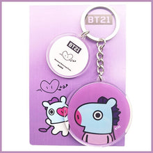 Load image into Gallery viewer, BTS Bangtan Boys BT21 Q edition Acrylic Key Ring Keychain gifts