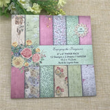 24 Sheets 6'X6' Spring Flower Blossoms Patterned Paper Scrapbooking Paper Pack Handmade Craft Paper Craft Background Pad