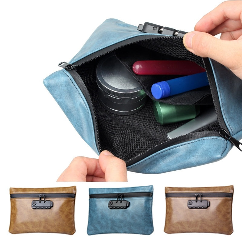 New Password Lock Activated Carbon Anti-Odor Waterproof Tobacco Bag Smoking Tool