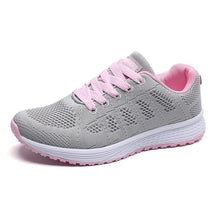 Load image into Gallery viewer, Spring Autumn Mesh Lovers Sneakers Fly Weave Light Breathable Sport Shoes Women Running Shoes Comfortable Sneakers