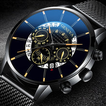 Load image into Gallery viewer, Fashion Mens Watches Male Clocks Luxury Quartz Watch Man Casual Slim Mesh Steel Business Black Wrist Watch Simple Sports Watches Relogio Masculino
