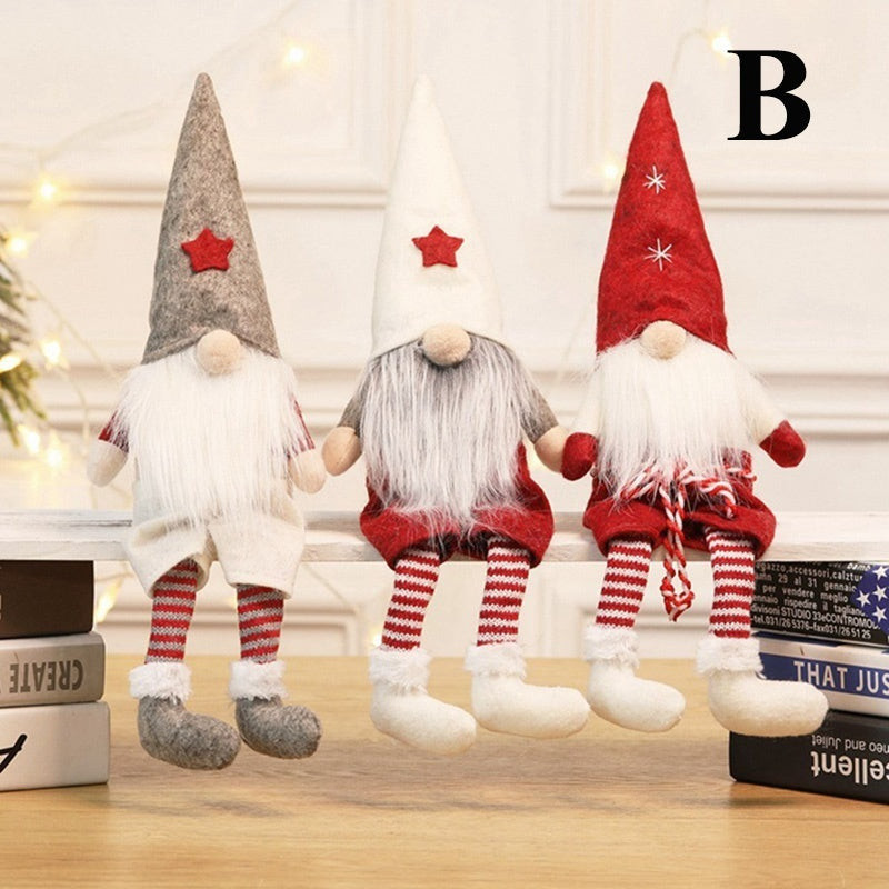 4 Styles New Handmade Christmas Santa Claus Doll Gnome Swedish Figurines Holiday Pretty Xmas Supplies Ornaments Gifts