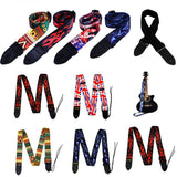 1pc New Nylon Guitar Strap for Acoustic Electric Guitar Comfortable Multi-Color  High Quality PU Leather Ends Blue Lighting Design  Bass Belt