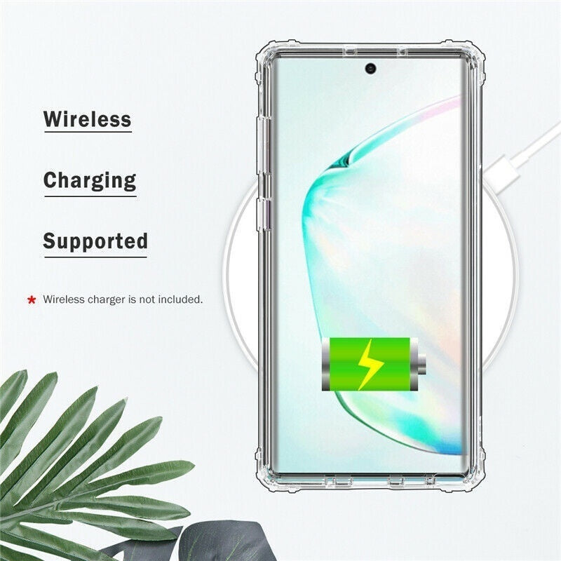 For Samsung Galaxy Note 10 Plus S10 Plus Lite S9 S8 Plus Note 9 8 Case Shockproof Silicone Protective Clear Gel Cover