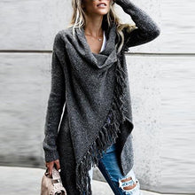 Load image into Gallery viewer, New Ladies Fashion Casual Loose Knitted Tassel Sweater Tops Knitwear Strickjacke damen
