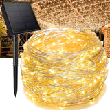 Younger Solar String Lights, Outdoor String Lights, Waterproof Decorative String Lights for Patio, Garden, Gate, Yard, Party, Wedding, Christmas