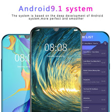 Load image into Gallery viewer, 6.3 inch Water Drop Screen Android 9.1 MTK6797 10 Core 6G+128G Dual SIM Card Dual Standby 8.0 MP + 16.0 MP GPS GSM 3G WCDMA 4G Smartphone