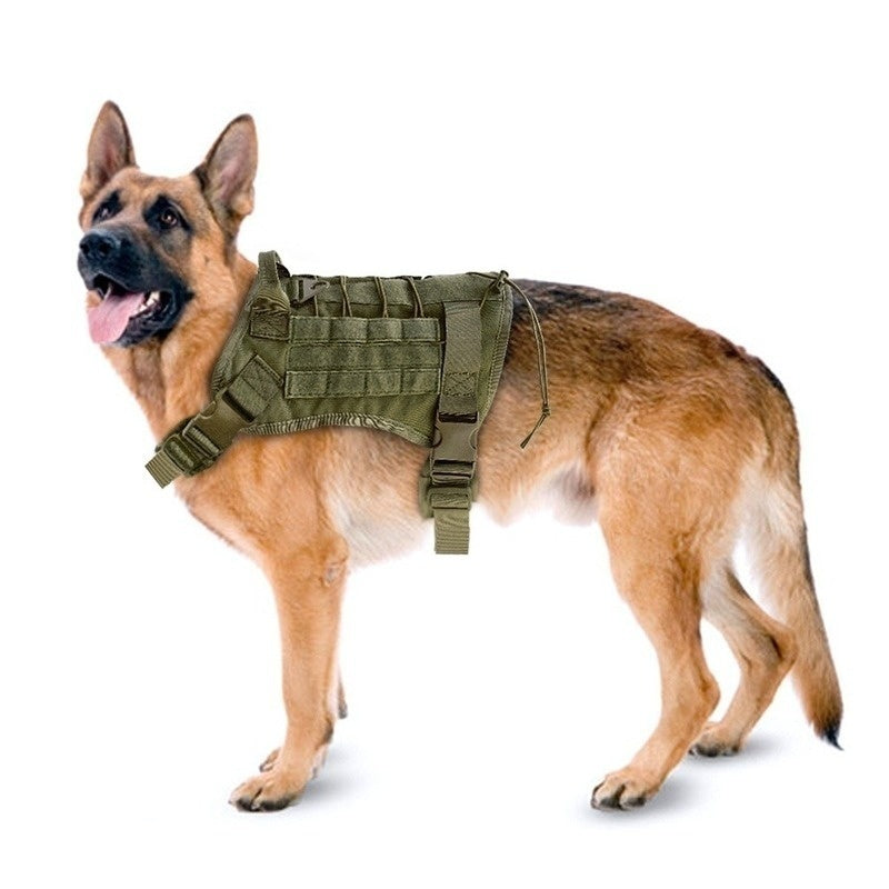 Army Tactical Dog Vest Water Resistant Durable Military Commuter Bag Sundries Bags Kettle Set for Dog Training Large Dogs Medium Dogs