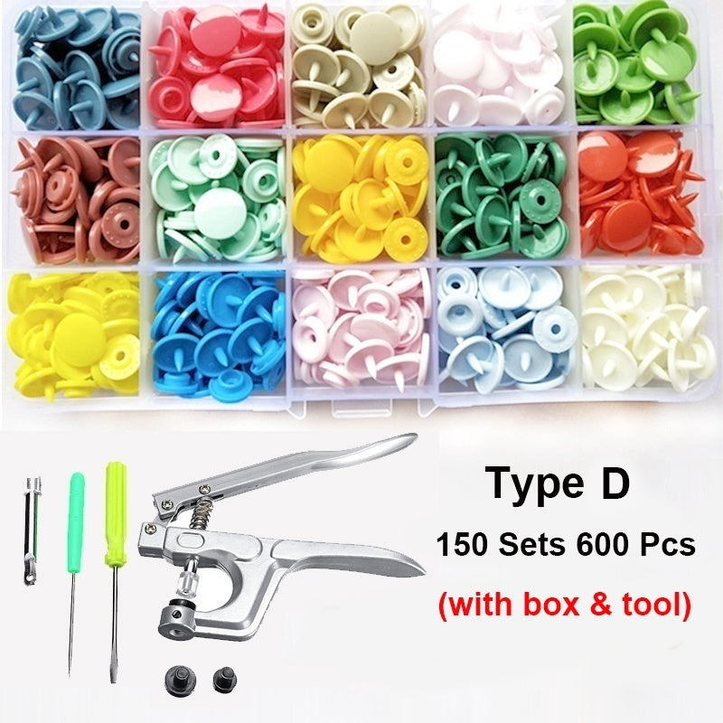 600/1440Pcs 15/24 Colors Plastic Multcolor Press Studs DIY Kids Child Clothes T5 Plastic Fastener Snap Fastener Resin Stud Cloth Kit