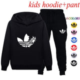 Fashion Kids Clothes Casual Long Children Sets Hooded Sweatshirts + Pants for Boys and Girls 6 Colors
