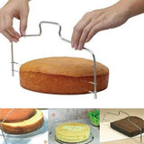 1pc Fashion Adjustable Wire Cake Slicer Leveler Pizza Dough Cutter Trimmer Tools Accessories