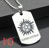 Supernatural Classic Stainless Steel Fashion Keychain Jewelry  Engraving Name ID Tags steel army card pendant for necklace lettering Geschenk
