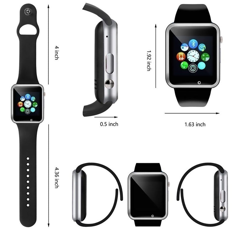 A1 Waterproof Smart Watch Bluetooth GSM Sim Phone Pedometer Sedentary Remind Sleep Monitor Remote Camera For Android/iOS