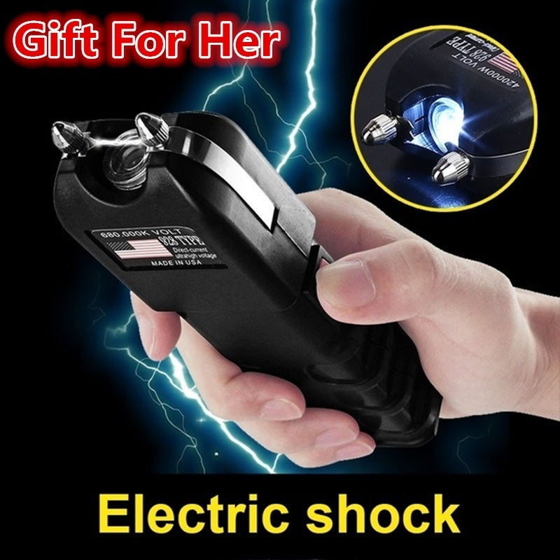Outdoor Women Self Defense Tools Electric Shock Flashlight POLICE 928 Stun Gun Heavy Duty Rechargeable with LED Flashlight