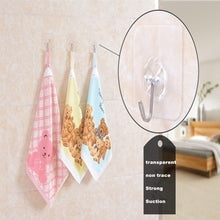 Load image into Gallery viewer, 21/13/7 PCS Transparent Non Trace Strong Hook Wall Hooks Hanger For Kitchen Bathroom Home Decor Holders Racks
