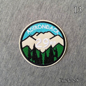 New Beautiful Scenery Explore Embroidered Patch Iron On Patches Embroidery Patch Clothes Jackets Jeans Bags
