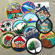 Load image into Gallery viewer, New Beautiful Scenery Explore Embroidered Patch Iron On Patches Embroidery Patch Clothes Jackets Jeans Bags