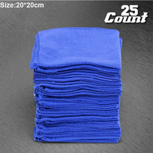 Load image into Gallery viewer, 25/50pcs Set Practical Soft Auto Car Care Microfiber Wash Cloth Cleaning Towels 20*20cm