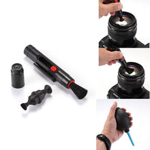 Load image into Gallery viewer, 3 in 1 Lens Cleaning Cleaner Dust Pen Blower Cloth Kit For DSLR VCR Camera