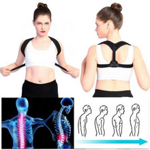 Load image into Gallery viewer, Adjustable Back Shoulder Posture Correction Band Humpback Back Pain Relief Corrector Brace