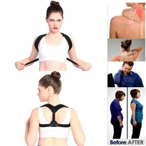 Adjustable Back Shoulder Posture Correction Band Humpback Back Pain Relief Corrector Brace