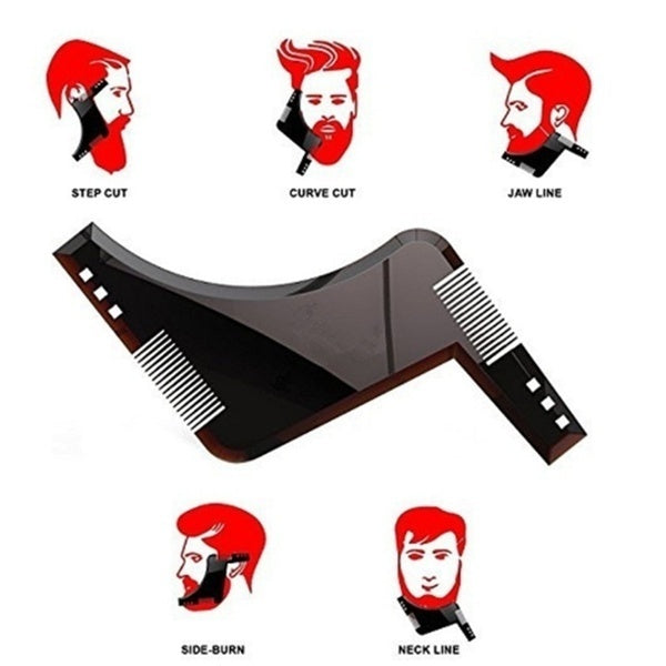 Men's Fashion Razor Comb Beard Cutting Comb Beard Beard L Shaped Trimmed Comb Modelling Tools