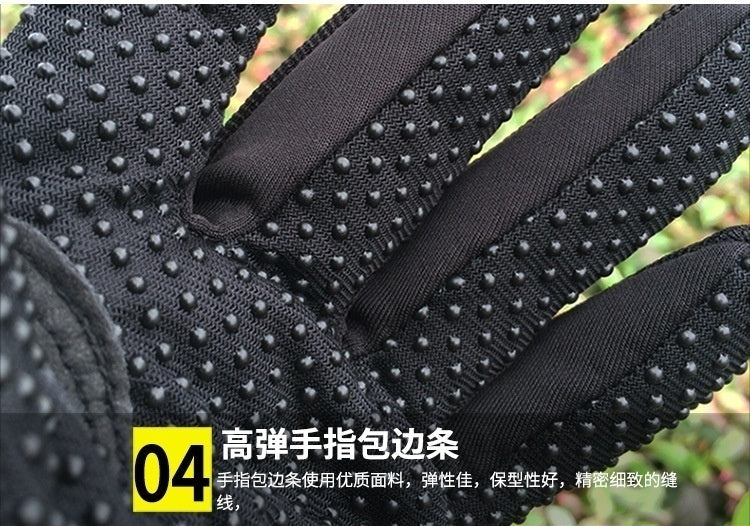 Light 3 Colors Professional Men's Motorcycle Gloves Retro Perforated Carbon Fiber Motorcycle Gloves Shatter-resistant Gloves