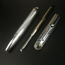 Load image into Gallery viewer, Exquisite All Metal Twist Ballpoint Pen Classic Silver High-end Business Office School Meeting Stationery Writing Supplies Chic Ball Pen Gift Pen