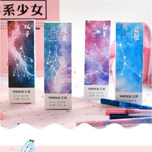Load image into Gallery viewer, 3Pcs/Set Charm 12 Constellations Black Color Gel Pen Creatieve Starry Pens Student Supplies