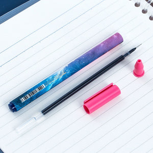 3Pcs/Set Charm 12 Constellations Black Color Gel Pen Creatieve Starry Pens Student Supplies