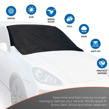 Load image into Gallery viewer, [215x125cm / 245 x 145cm ]Magnetic Windshield Cover Fits Any Car Truck SUV Van or Automobile Keeps Ice & Snow Off Exterior Auto Snow Windshield Cover with Magnetic Edges