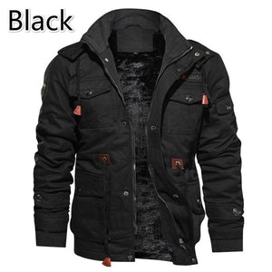Outdoor Warm, Windproof and Velvet Cotton Jacket, Winter Warm Jacket for Young Men in Europe and America