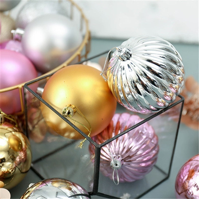 34Pcs 40mm Christmas Xmas Tree Ball Bauble Hanging Home Party Ornament Decor Christmas Supplies Decorations for Home