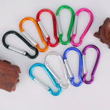 10pcs Hiking Camping Gourd-shaped Keychain Hook Carabiner Outdoor Safety Buckle