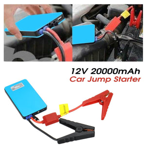 20000mAh Car Jump Starter Pack Booster Battery Charger USB Power Bank Mini 12V @Outdoor Car Mobile Power Supply Automobile Emergency Battery Flashlight Car