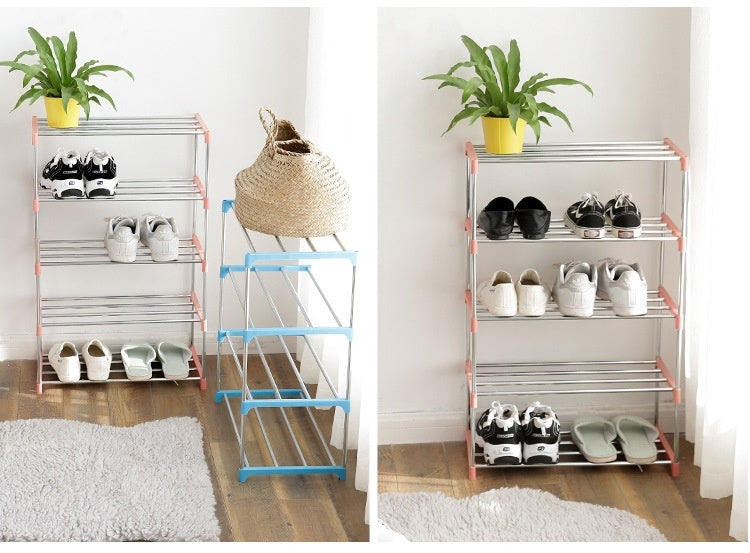Fashion Shoe Rack Aluminum Vertical Shoe Rack DIY Shoe Rack Storage Rack Dormitory Household Storage Box Accessories