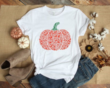 Load image into Gallery viewer, Women's Fashion Short Sleeve Round Neck Autumn Pumpkin Print Halloween Casual Fall T-shirts