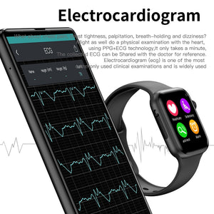 IWO 10 Smart Watch Men Women 44mm 1.54 inch MTK2502 ECG Heart Rate Monitor Sport Activity Tracker Relogio Smartwatch for Android IOS
