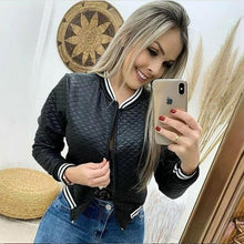 Load image into Gallery viewer, 2020 Autumn Fashion Women Solid Color Outwear Casual Zipper Up Short Pocket Bomber Jacket Coats