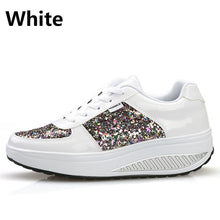 Load image into Gallery viewer, Womens Platform Shoes Casual Shoes Glitter Upper Sneakers Walking Fitness Shoes