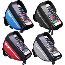 Load image into Gallery viewer, Waterproof Touch Screen Cell Phone Stand Pannier MTB Bicycle Frame Front Bags