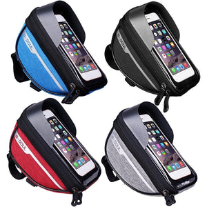 Waterproof Touch Screen Cell Phone Stand Pannier MTB Bicycle Frame Front Bags